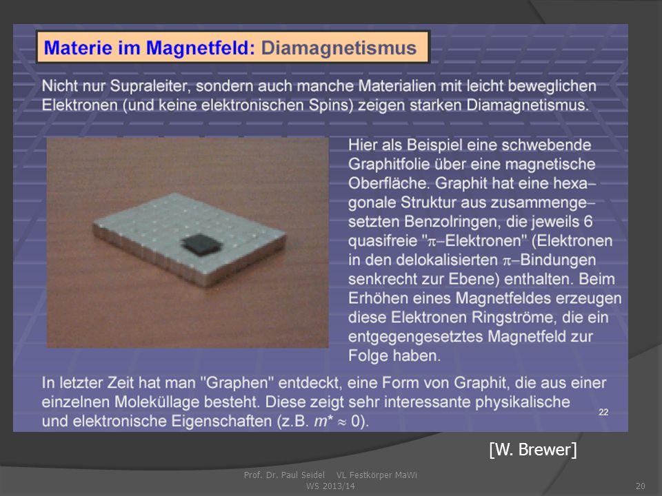 Prof. Dr. Paul Seidel VL Festkörper MaWi WS 2013/14
