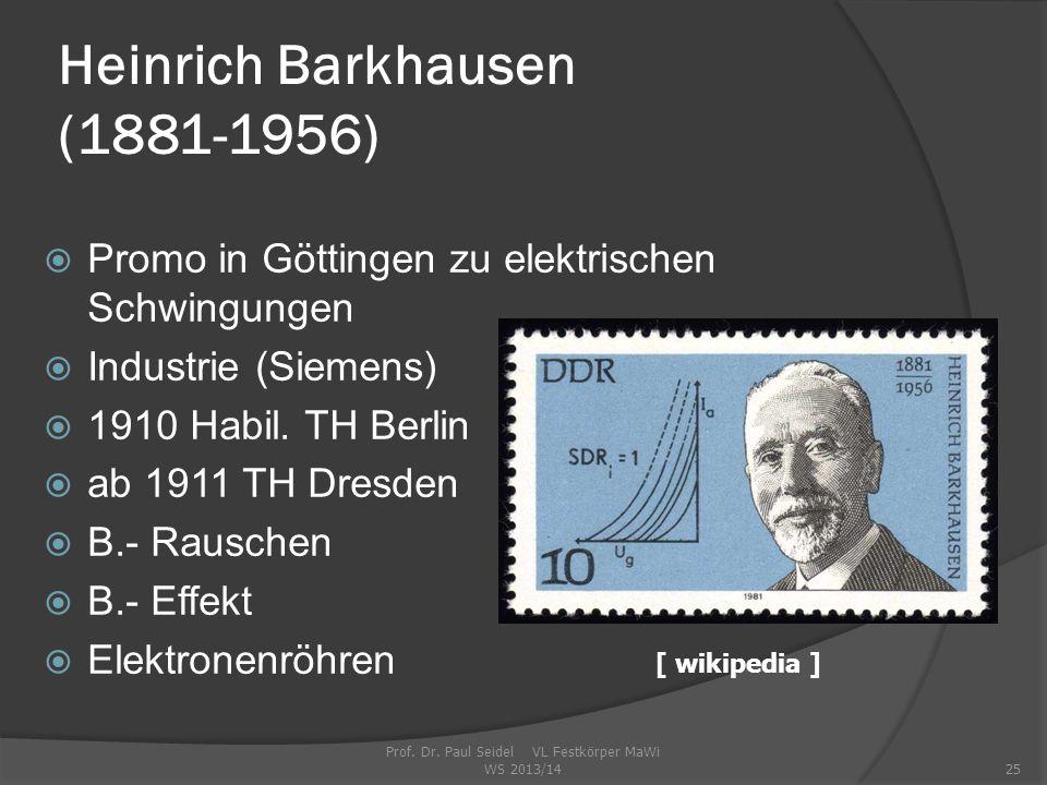 Heinrich Barkhausen (1881-1956)