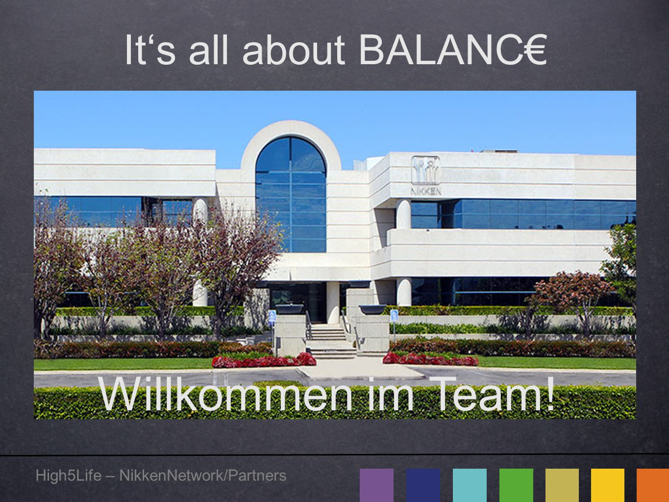Willkommen im Team! It's all about BALANC€