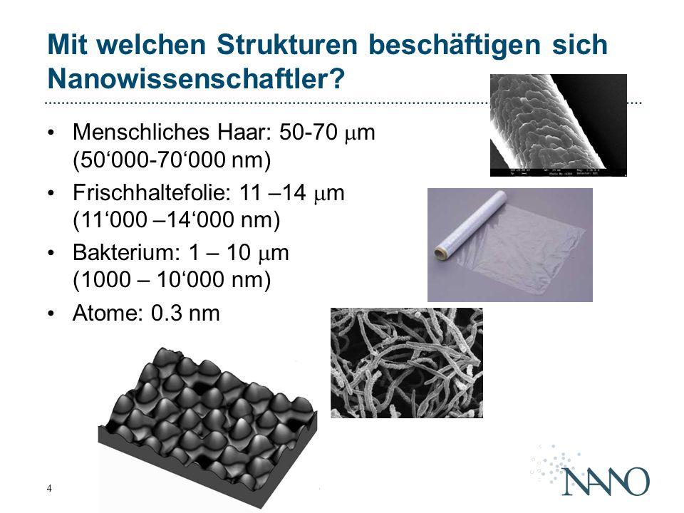 Mit welchen Strukturen beschäftigen sich Nanowissenschaftler