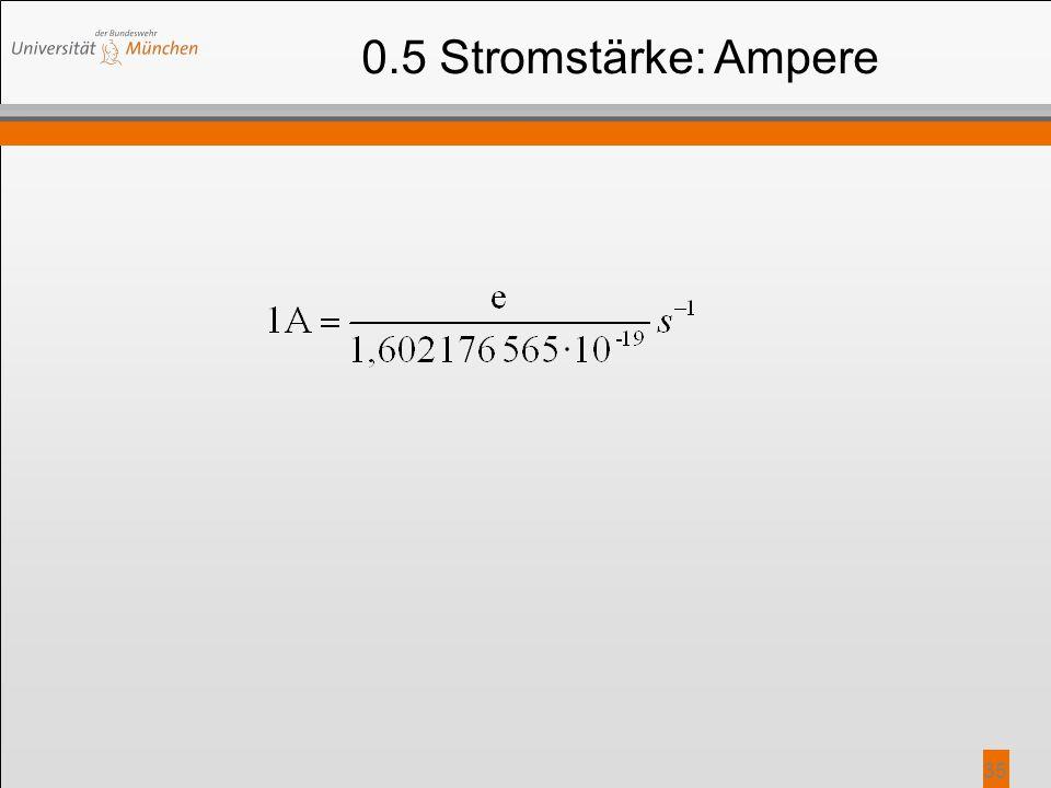 0.5 Stromstärke: Ampere
