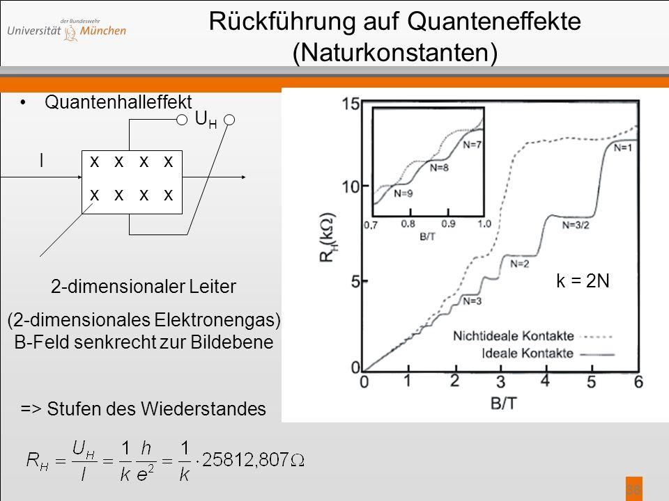Rückführung auf Quanteneffekte (Naturkonstanten)