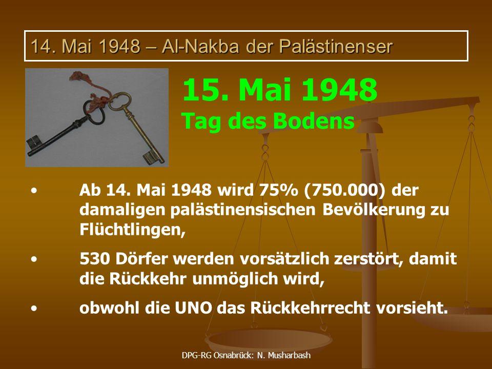 14. Mai 1948 – Al-Nakba der Palästinenser