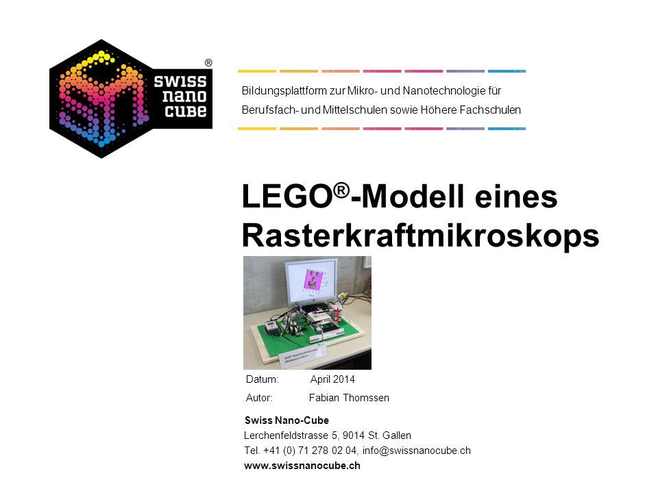 LEGO®-Modell eines Rasterkraftmikroskops
