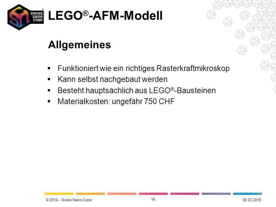LEGO®-AFM-Modell Allgemeines