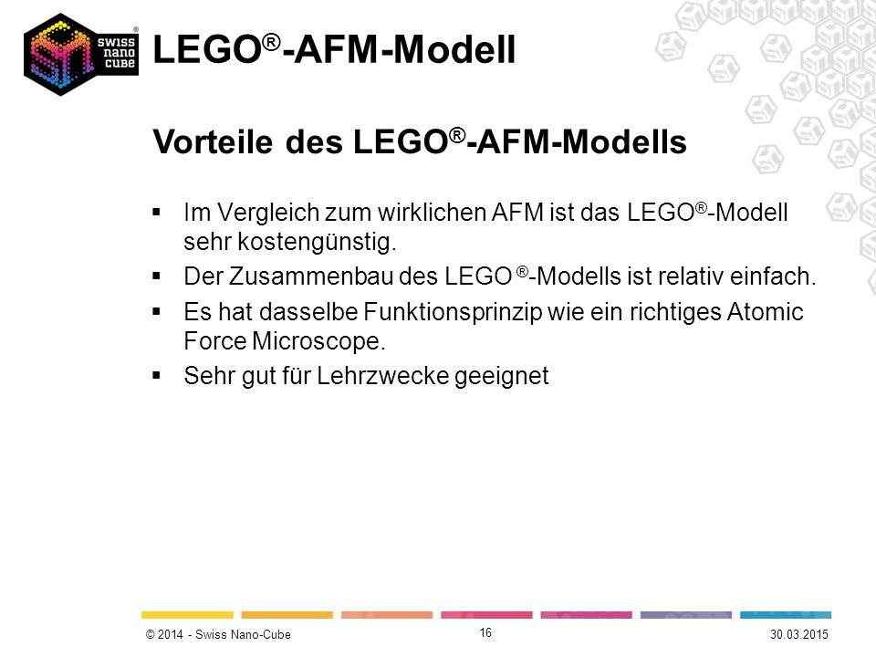 LEGO®-AFM-Modell Vorteile des LEGO®-AFM-Modells