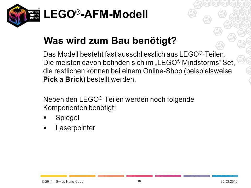 LEGO®-AFM-Modell Was wird zum Bau benötigt
