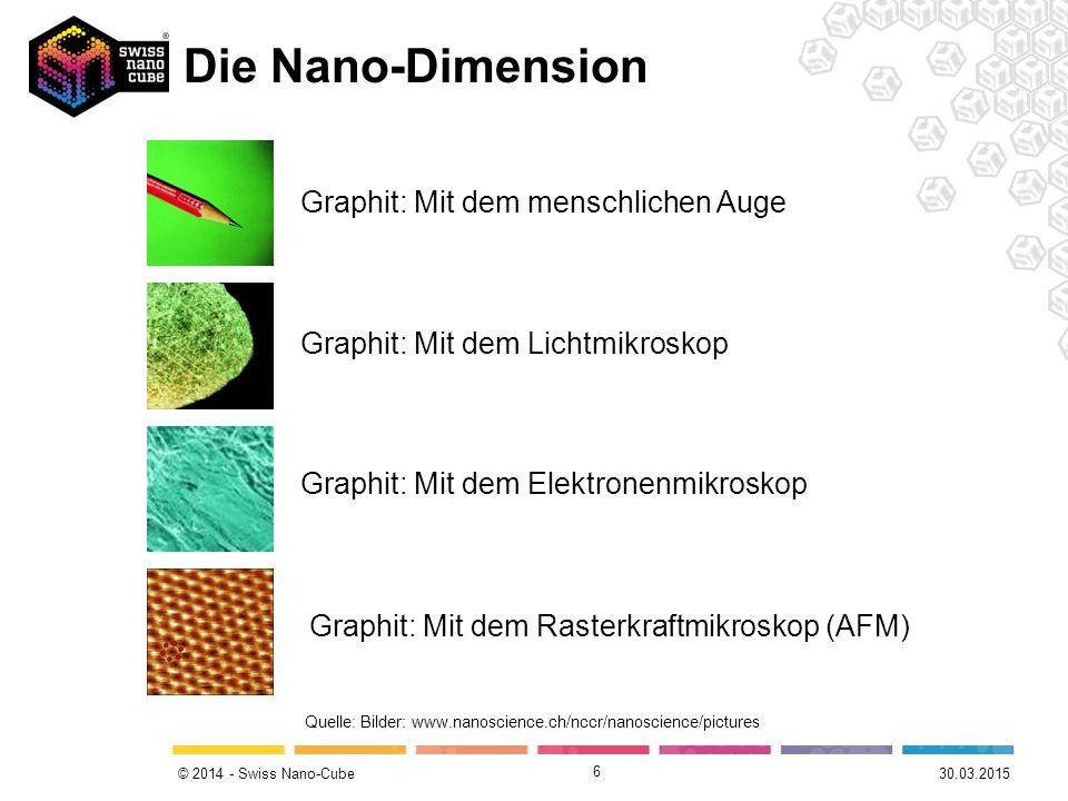 Die Nano-Dimension Graphit: Mit dem menschlichen Auge