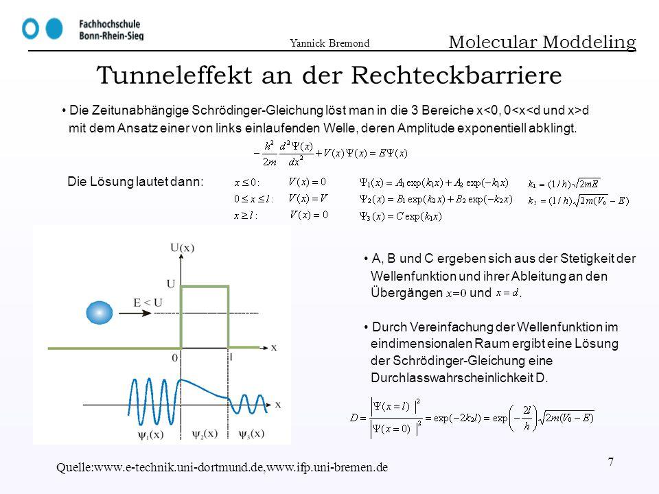 Tunneleffekt an der Rechteckbarriere