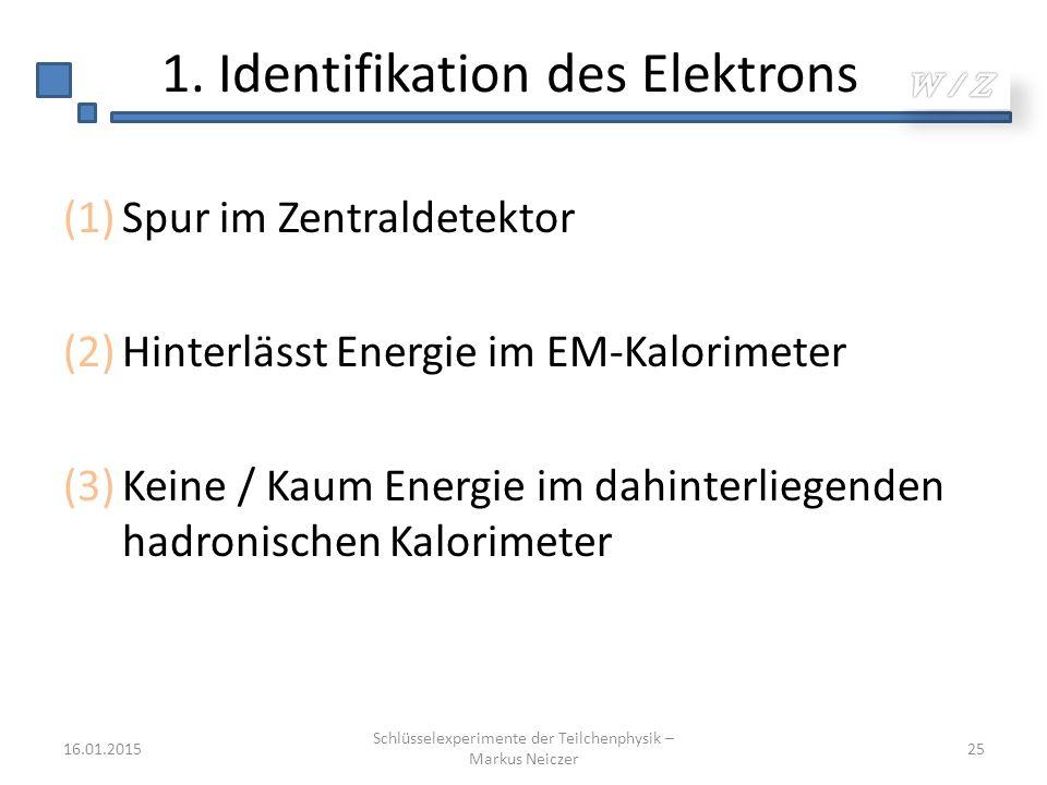 1. Identifikation des Elektrons