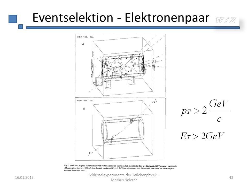 Eventselektion - Elektronenpaar