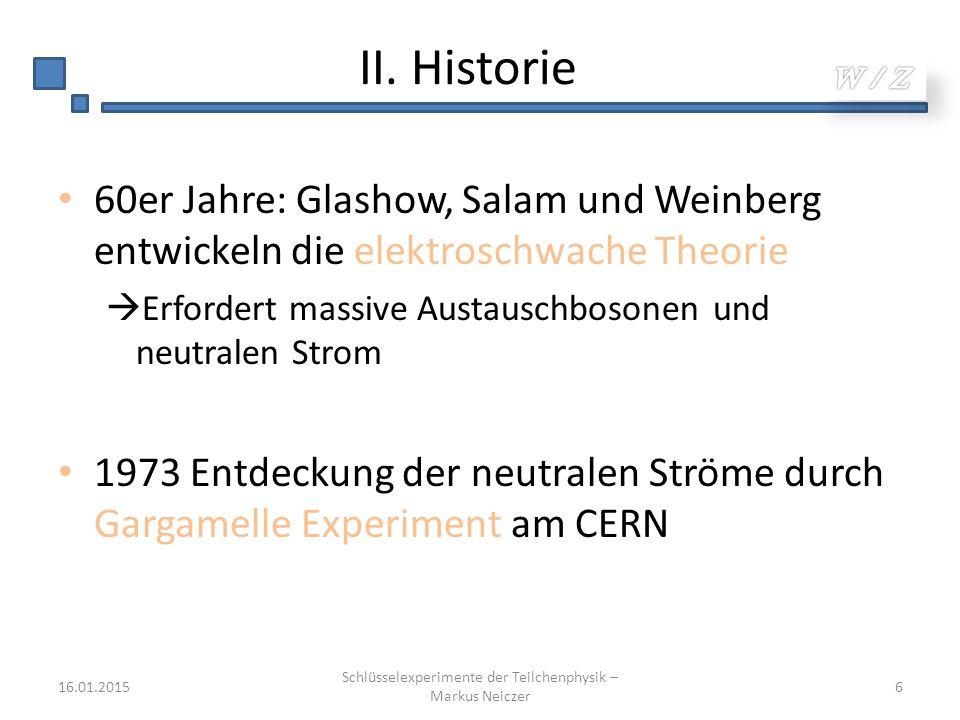 Schlüsselexperimente der Teilchenphysik – Markus Neiczer