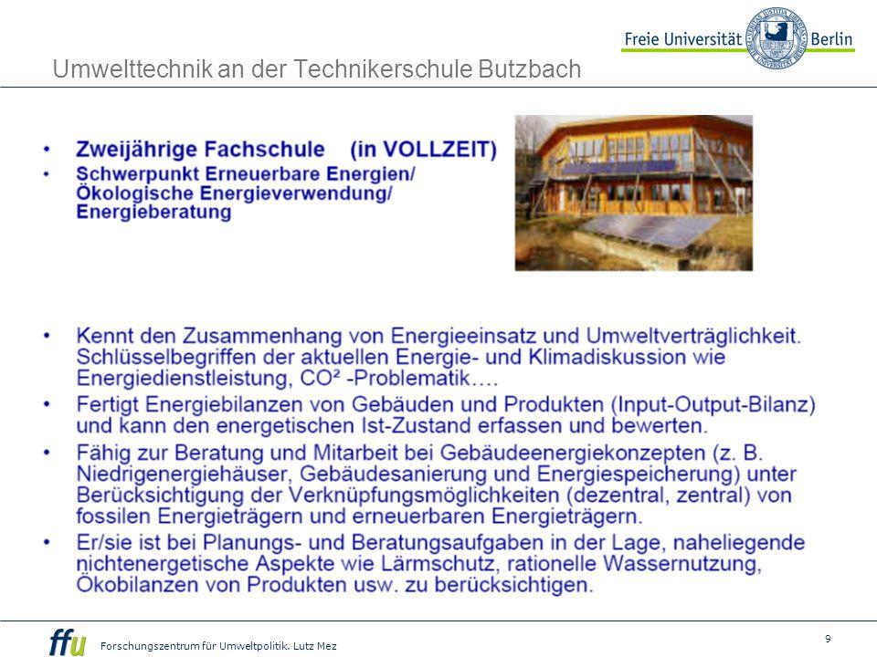 Umwelttechnik an der Technikerschule Butzbach