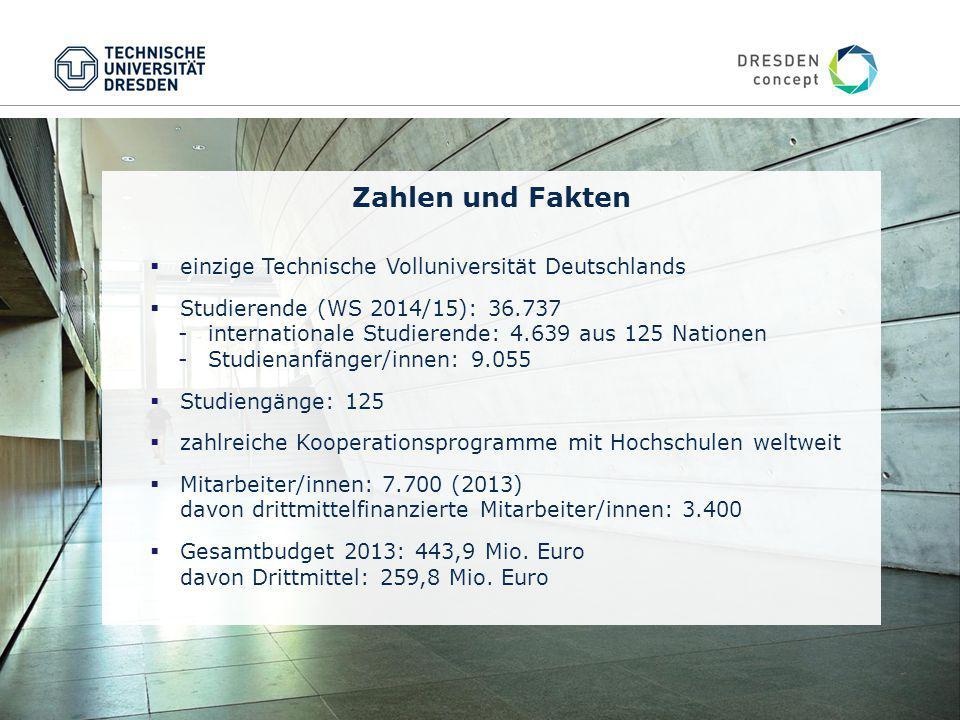 Zahlen und Fakten einzige Technische Volluniversität Deutschlands
