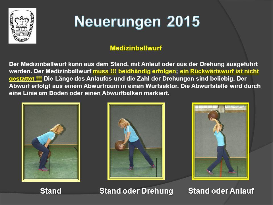 Neuerungen 2015 Stand Stand oder Drehung Stand oder Anlauf