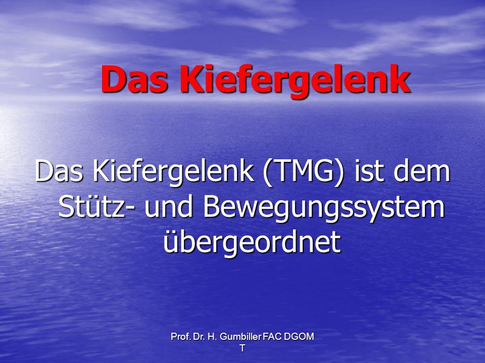 Das Kiefergelenk Das Kiefergelenk (TMG) ist dem Stütz- und Bewegungssystem übergeordnet.