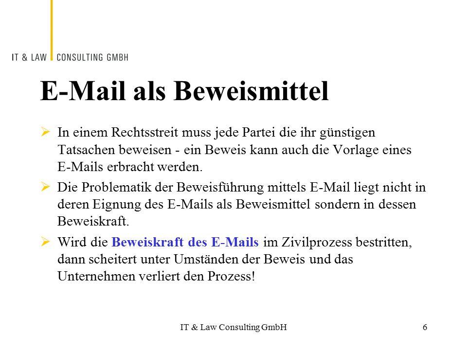 E-Mail als Beweismittel