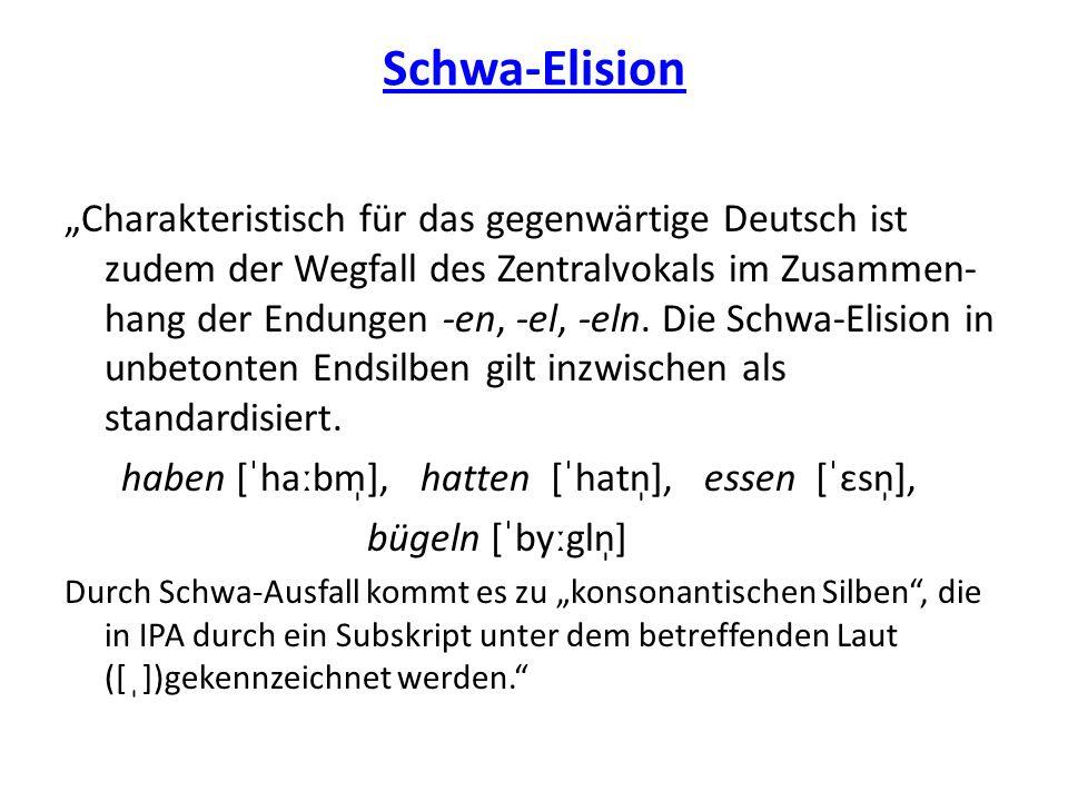 Schwa-Elision