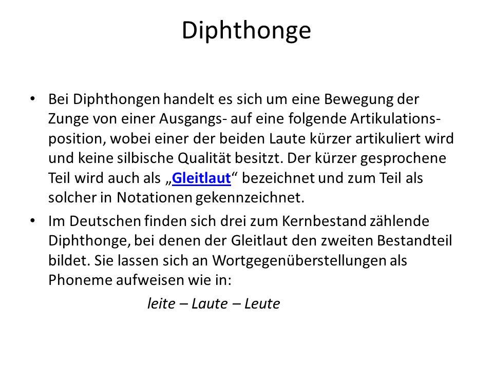 Diphthonge