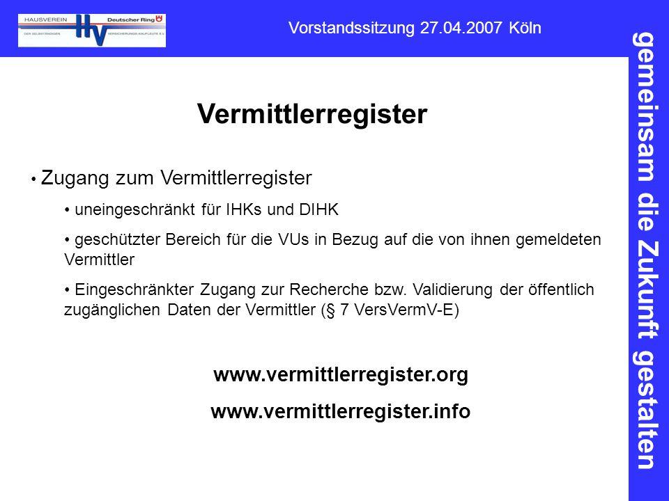 Vermittlerregister www.vermittlerregister.org