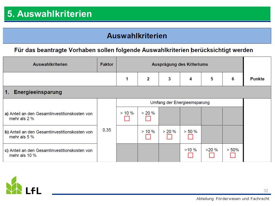 09.04.2017 5. Auswahlkriterien analog Wassereinsparung