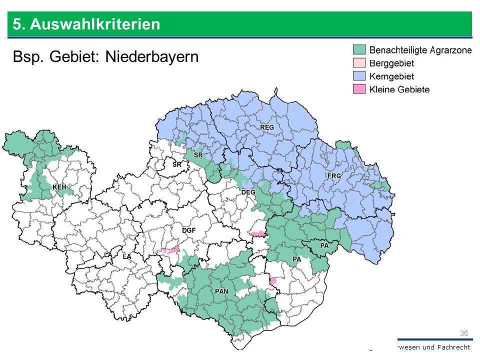 Bsp. Gebiet: Niederbayern