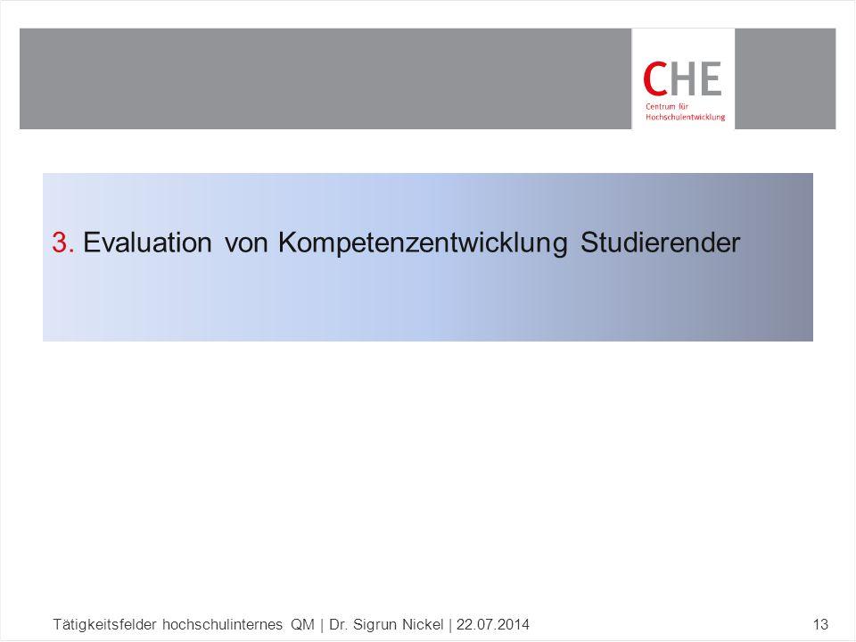 3. Evaluation von Kompetenzentwicklung Studierender
