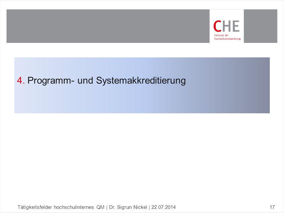 4. Programm- und Systemakkreditierung