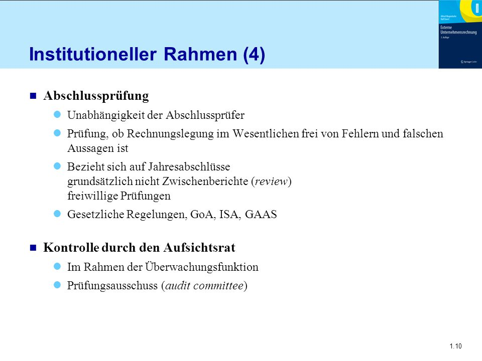 Institutioneller Rahmen (4)