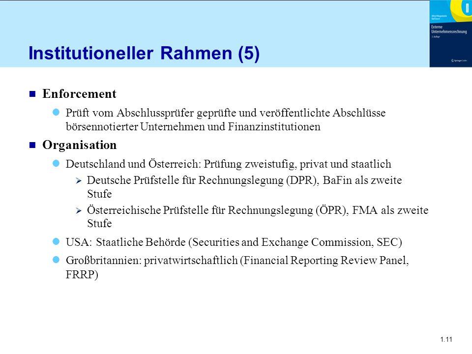 Institutioneller Rahmen (5)