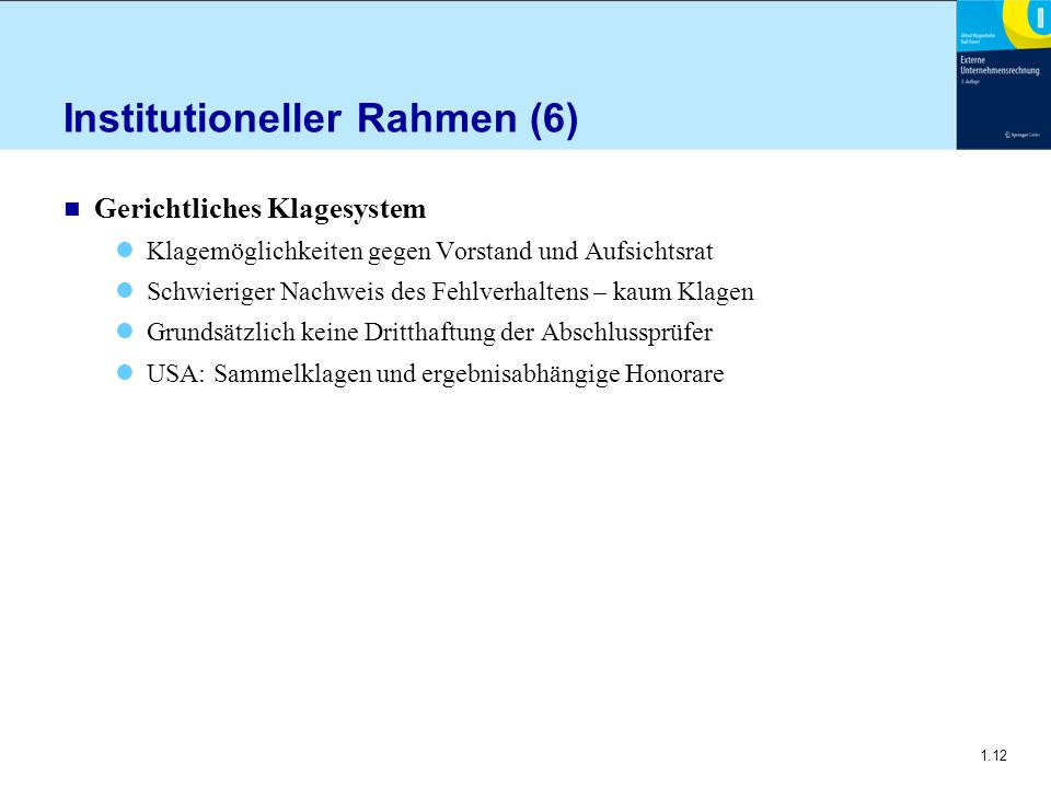 Institutioneller Rahmen (6)