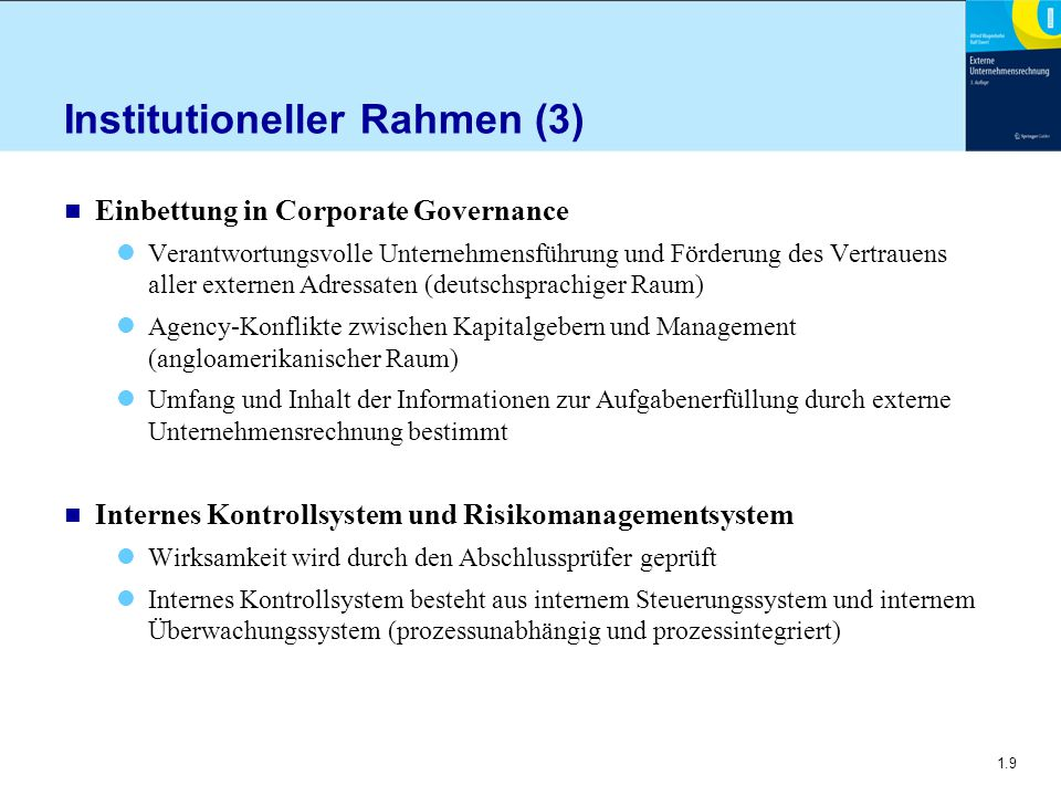 Institutioneller Rahmen (3)
