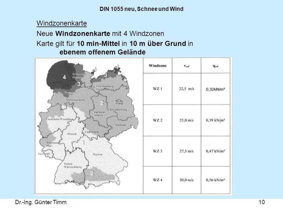 Neue Windzonenkarte mit 4 Windzonen