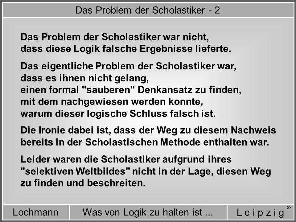 Das Problem der Scholastiker - 2