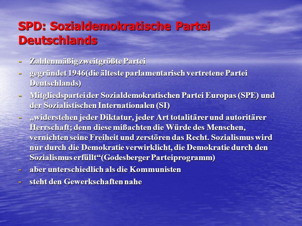 SPD: Sozialdemokratische Partei Deutschlands