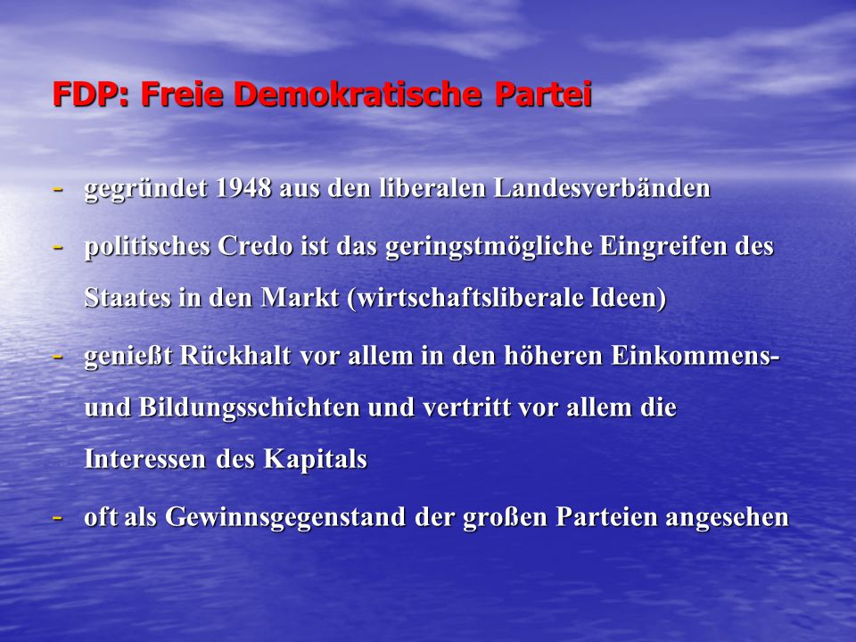 FDP: Freie Demokratische Partei