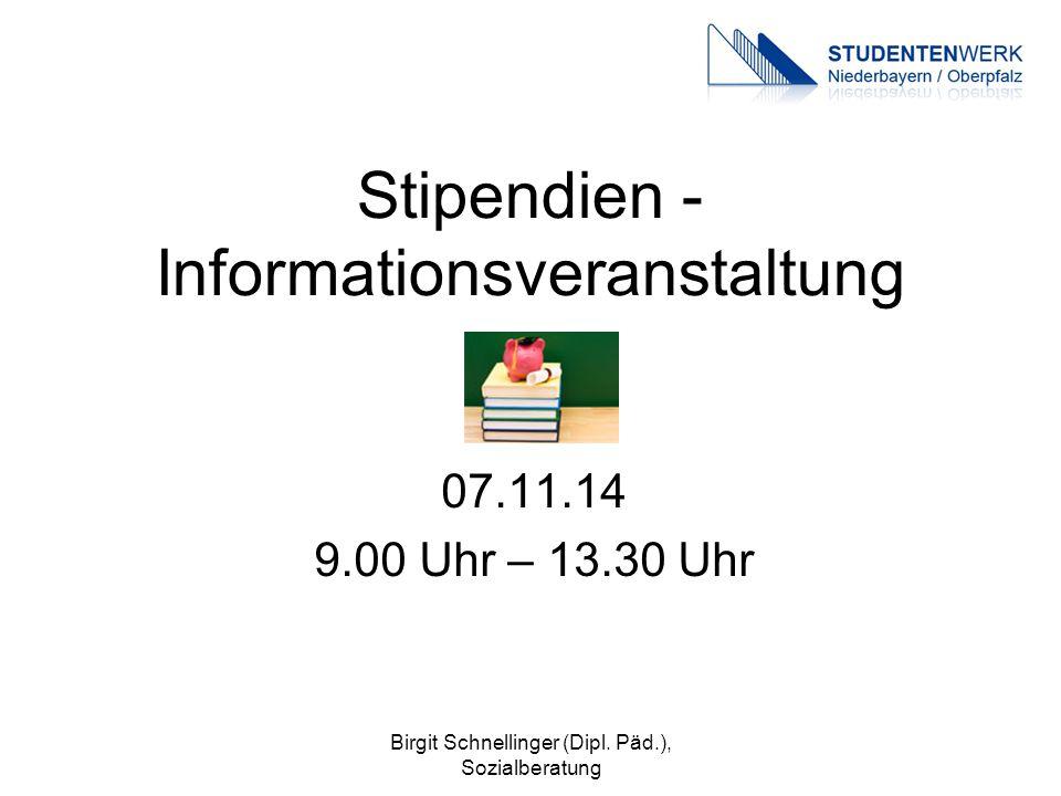 Stipendien - Informationsveranstaltung