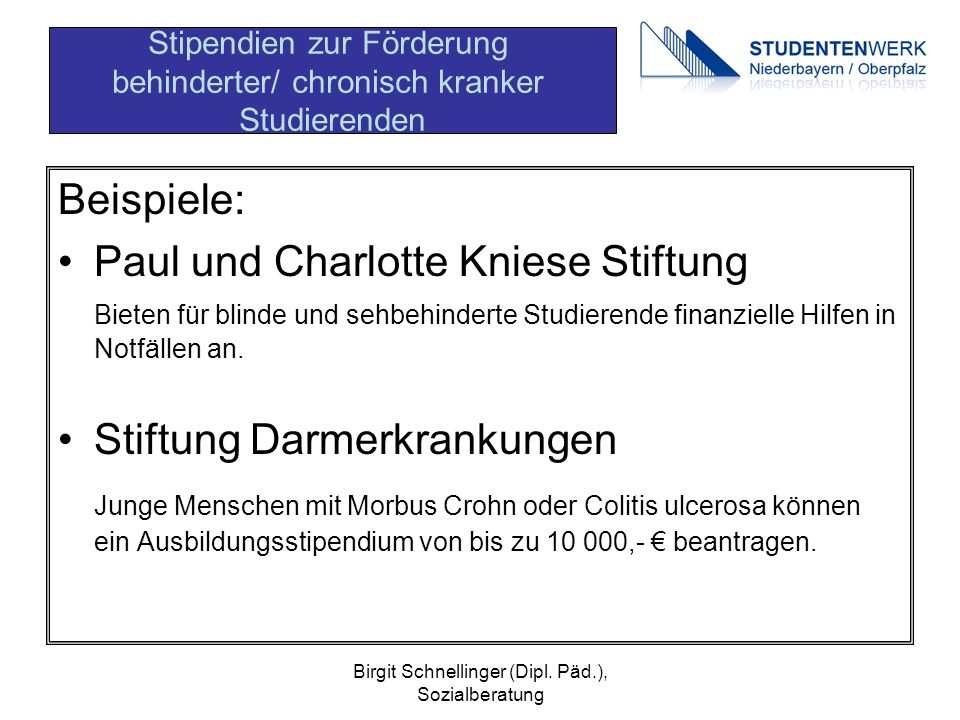 Paul und Charlotte Kniese Stiftung