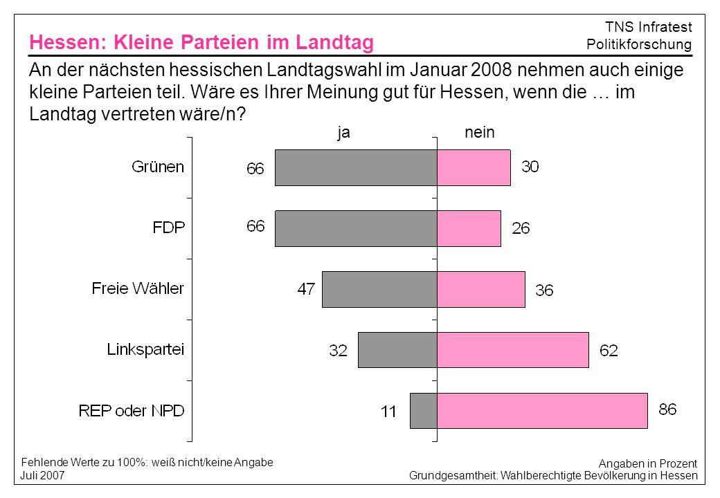 Hessen: Kleine Parteien im Landtag