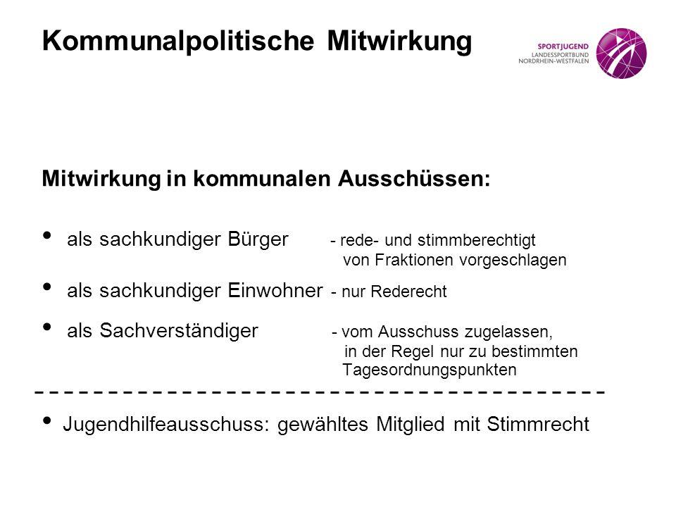 Kommunalpolitische Mitwirkung