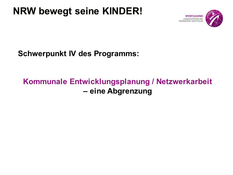 NRW bewegt seine KINDER!