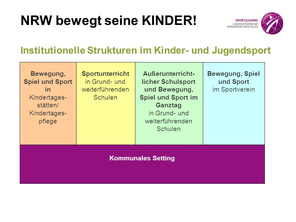 Institutionelle Strukturen im Kinder- und Jugendsport