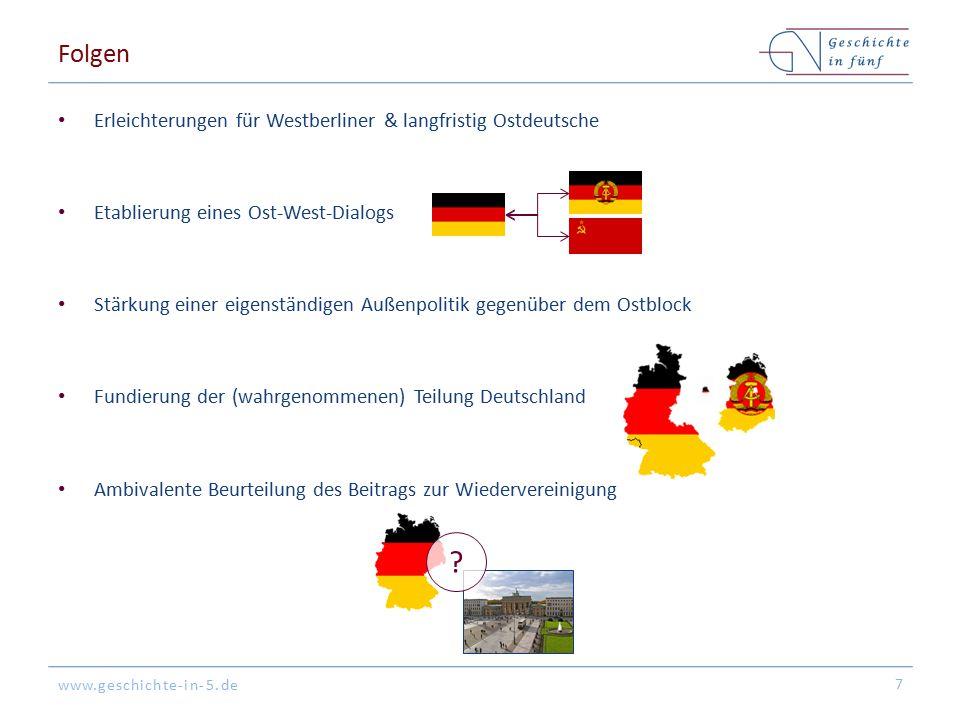 Folgen Erleichterungen für Westberliner & langfristig Ostdeutsche