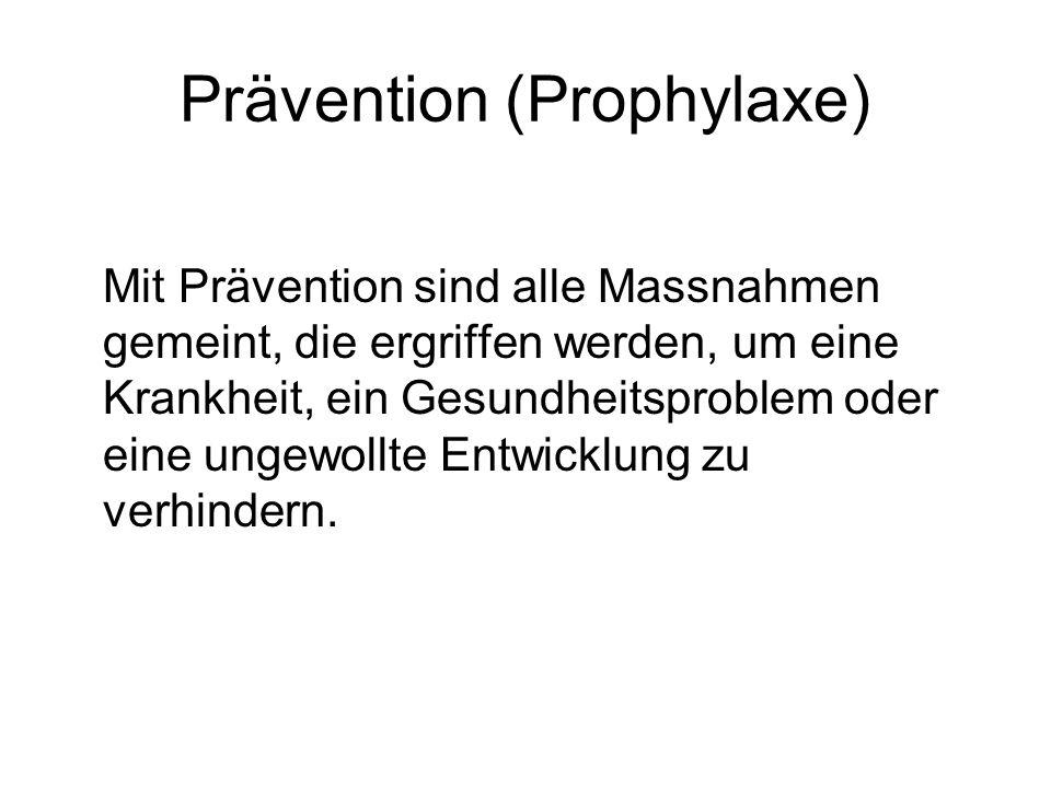 Prävention (Prophylaxe)