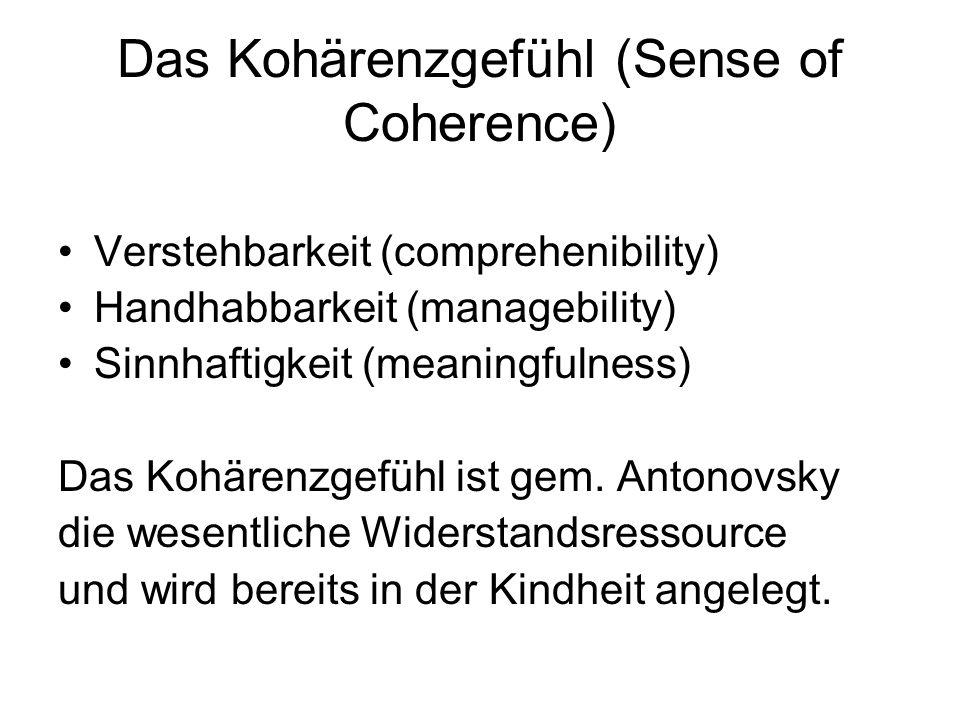 Das Kohärenzgefühl (Sense of Coherence)