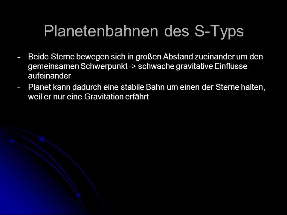 Planetenbahnen des S-Typs