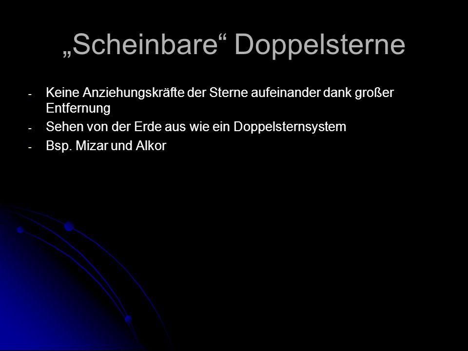 """""""Scheinbare Doppelsterne"""