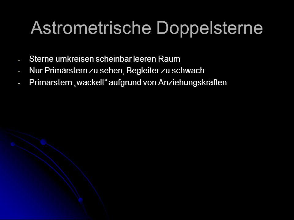 Astrometrische Doppelsterne