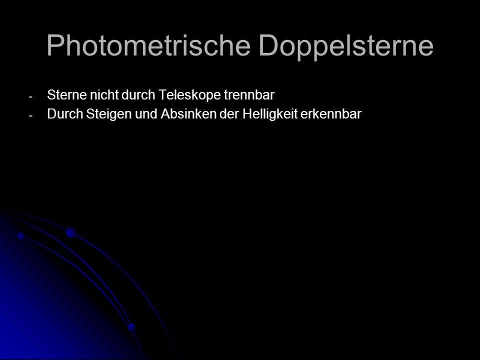 Photometrische Doppelsterne