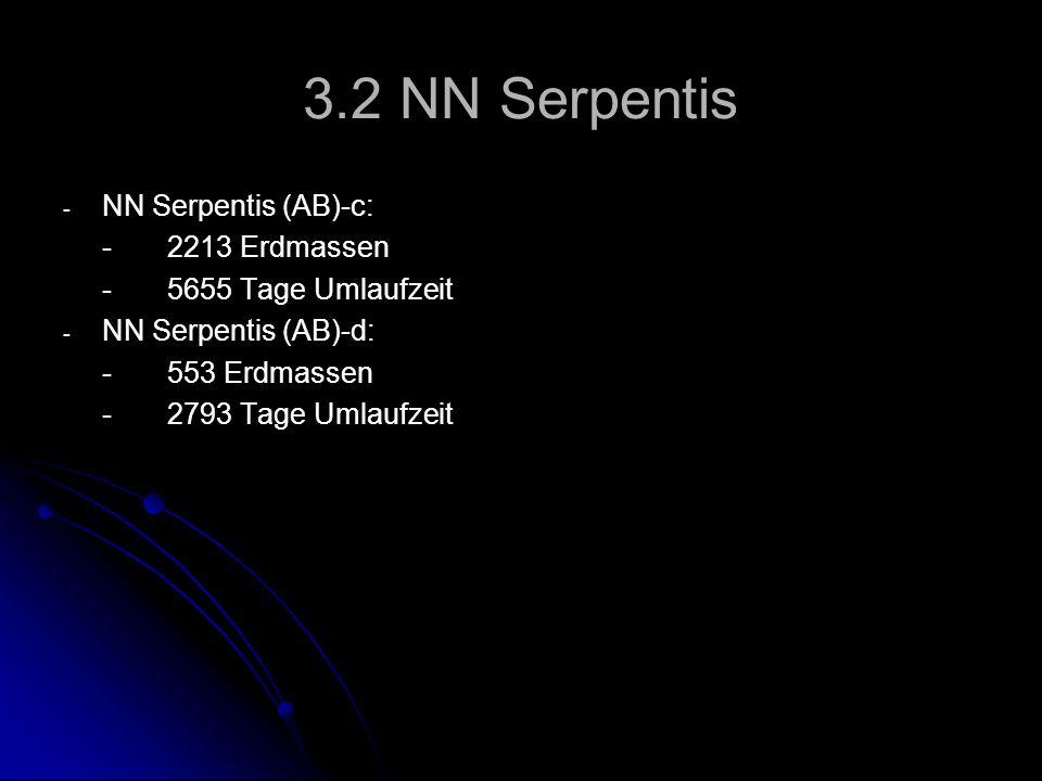 3.2 NN Serpentis NN Serpentis (AB)-c: - 2213 Erdmassen